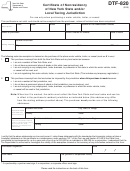 Form Dtf-820 - Certificate Of Nonresidency Of New York State And/or Local Taxing Jurisdiction - New York Department Of Taxation And Finance