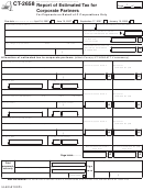 Form Ct-2658 - Report Of Estimated Tax For Corporate Partners - State Of New York