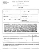 Form 72a006 - Motor Fuel Tax Refund Application