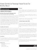 Form 0405-210 - 2007 - Commercial Passenger Vessel Excise Tax Monthly Return -alaska Department Of Revenue