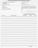 Employer's Quarterly Earned Income Tax Return Form - Palmer Township Earned Incomtax Office