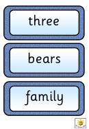 Story Board Template - Three Bears
