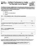 Form Ft-939 - Certificate Of Tax Exemption For A Qualified Indian Nation Or Tribe On Purchases Of Motor Fuel, Diesel Motor Fuel And Cigarettes - New York State Department Of Taxation And Finance