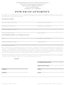 Form Uct-62 - Power Of Attorney - Florida Department Of Labor And Employment Security
