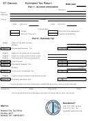 Form Et Generic - Estimated Tax Return
