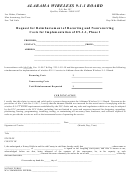 Request For Reimbursement Of Recurring And Nonrecurring Costs For Implementation - Alabama