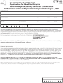 Form Dtf-82 - 2006 - Application For Qualified Empire Zone Enterprise (qeze) Sales Tax Certification