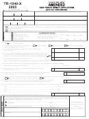Form Tr-1040-x - 2005 - Amended Fair Tenant Rebate Application