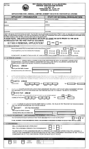 Form Raf-1 - Application Form For Annual, Limited, Exempt Or State Fair Raffle License