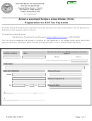 Form E-ach.slb - 2007 - Arizona Licensed Surplus Lines Broker (firm) Registration For Ach Tax Payments - Department Of Insurance State Of Arizona