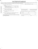 Declaration Of Exemption Form