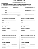 Local Services Tax Form - Miffco Tax Service