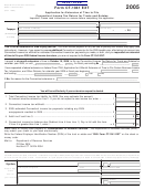 Form Ct-1041 Ext - Application For Extension Of Time To File Connecticut Income Tax Return For Trusts And Estates - 2005