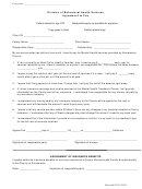Division Of Behavioral Health Services Agreement To Pay Form - California