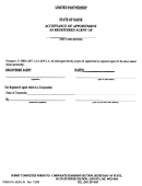 Form Mlpa-18 - Accept Ance Of Appointment As Registered Agent Form - State Of Maine