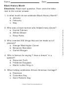Black History Month Worksheet