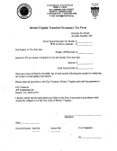 Bristol Virginia Transient Occupancy Tax Form