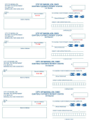 Quarterly Estimate Payment Coupon Template - City Of Massilon Income Tax Dpartment