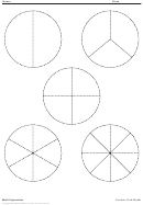 Math Expressions - Fraction Circle Model Worksheet