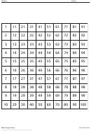 Hundred Grid Worksheet
