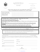 Application For Sale/use Tax Exemption Certificate For An Incorporated Nonprofit Day Care Center