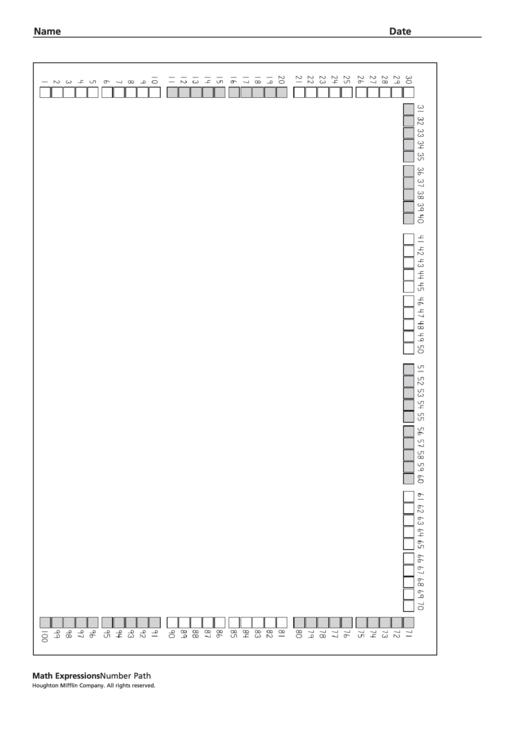 Number Path Worksheet Printable Pdf Download