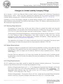 Changes To Limited Liability Company Filings, Changes To California Business Entity Filings, Instructions For Completing The Certificate Of Continuation (form Llc-8) - 2014