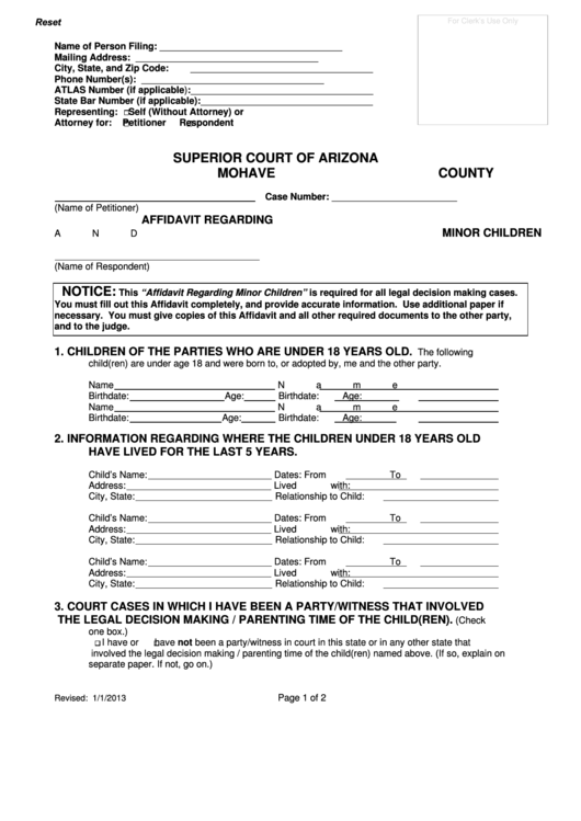 Mohave Superior Court Forms Fill Online Printable Fillable