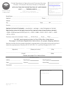 Application For Registration Of Antifreeze Form - Florida Department Of Agriculture And Consumer Services