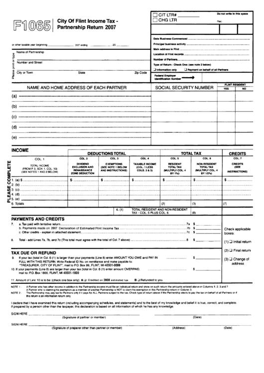 Form 1065 Form 1065 X Amended Return Or Administrative Adjustment ...
