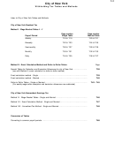 Withholding Tax Tables And Methods Form - City Of New York