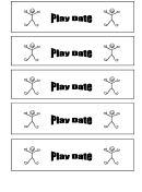 Behavior Template - Play Date