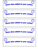 Behavior Template - Extra Time Added To Your Curfew
