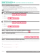 Form Il-1363 - Schedule B - Qualified Additional Residents - 2006