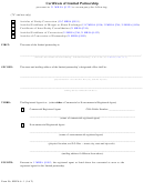 Form Mlpa-6 -1 - Certificate Of Limited Partnership/filer Contact Cover Letter