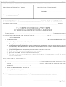 Form 18 - Statement Of Informal Appointment Of Personal Representative - Intestacy Form - North Dakota