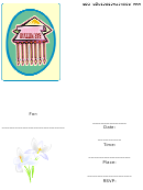 Bar Mitzvah Party Invitation Template