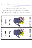 Start Here Bookmark Template