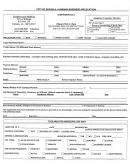 Alabama Business Application Form - City Of Eufaula