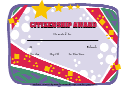 Citizenship Award Certificate Template