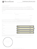 Corporate Resolution Template