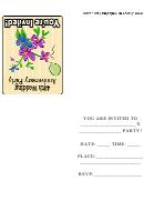 40th Wedding Anniversary Party Invitation Template