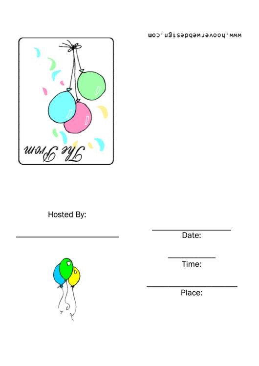 The Prom Invitation Template Printable pdf