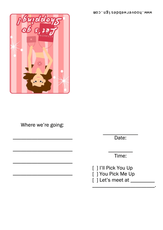 Invitation Template - Shopping