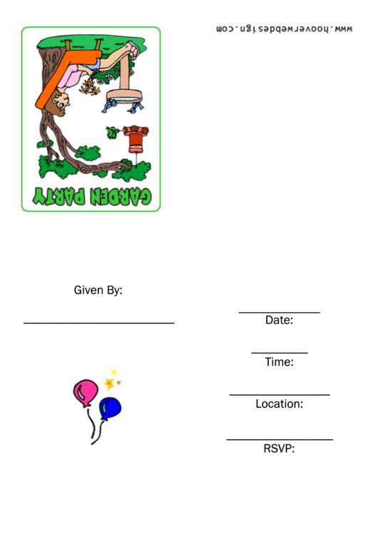 Invitation Template - Garden Party