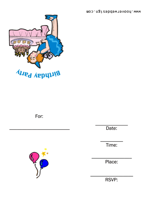 Invitation Template - Birthday Party