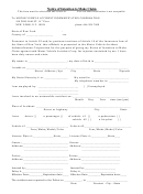 Notice Of Intention To Make Claim Form
