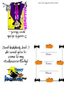 Vampire Halloween Party Invitation Template