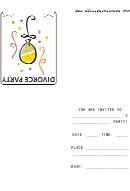 Invitation Template - Divorce Party