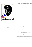 Invitation Template - Pet Birthday Party
